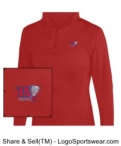1/4 Zip Ladies Lightweight Pullover Design Zoom